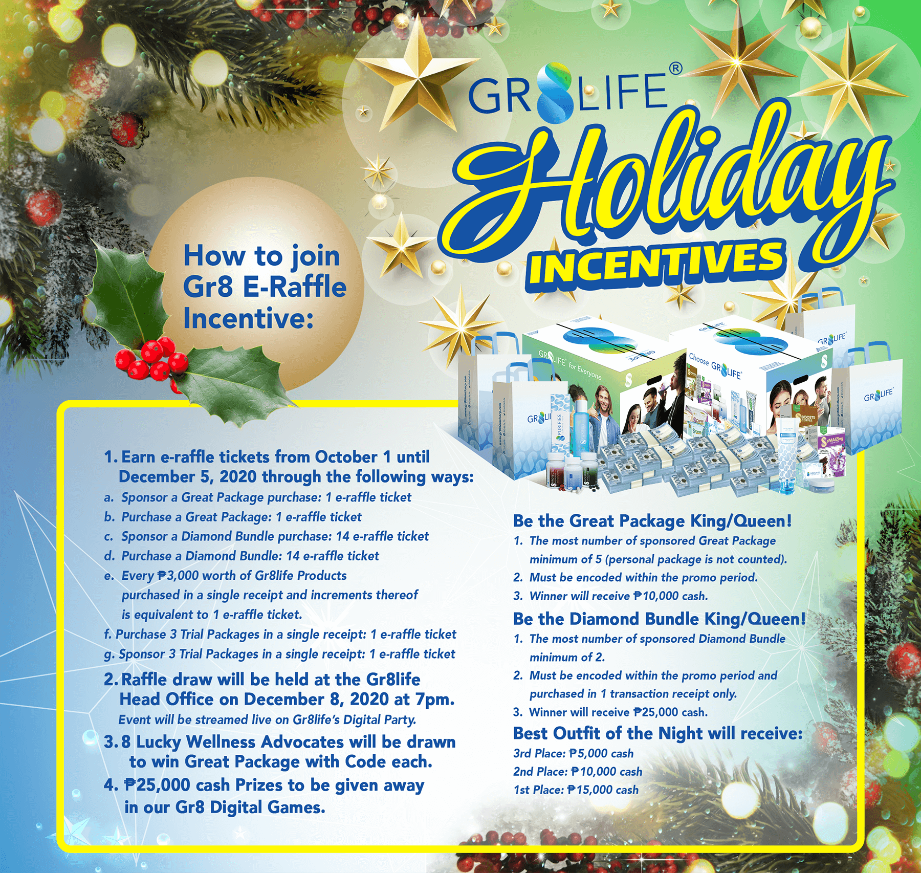 Gr8life Holiday Incentives